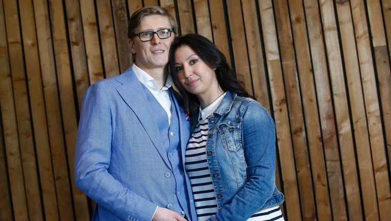 Stijn en Nuria tijdens de opnames van 'Blind Getrouwd'. Beeld photo_news