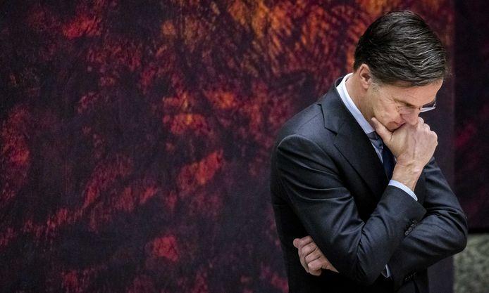 Mark Rutte stond vandaag onder grote druk in de Tweede Kamer.