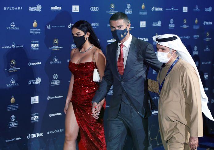 De intrede van Ronaldo en Rodriguez op de awardshow.