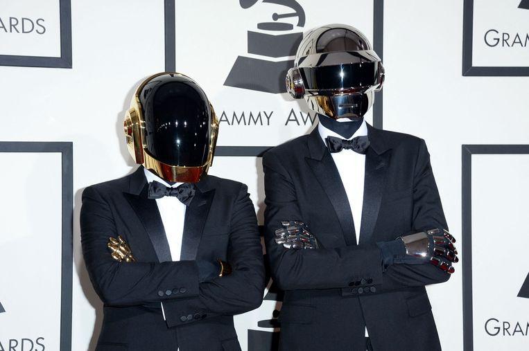 Daft Punk bij de Grammy Awards in 2014 in Los Angeles.  Beeld Jason Merritt/AFP