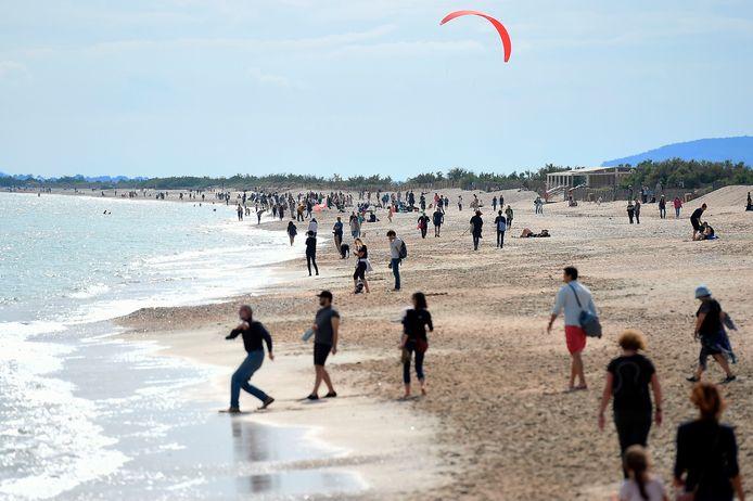 Villeneuve-les-Maguelone strand bij Montpellier, eerder dit jaar.
