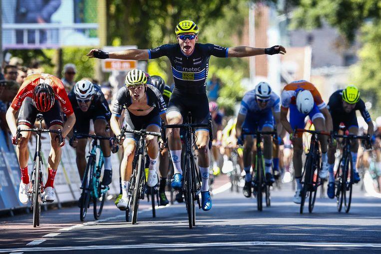 2019: David Dekker wint het NK wielrennen bij de beloften.  foto vincent jannink/anp Beeld ANP