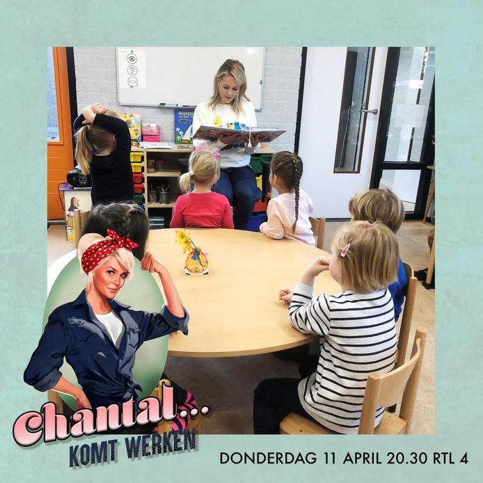 Chantal Janzen staat een dag voor de klas van Juf Anke in Sint-Michielsgestel