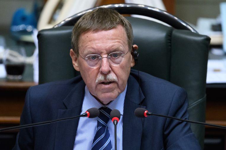 Kamervoorzitter Siegfried Bracke tijdens een plenaire zitting.  Beeld Photo News