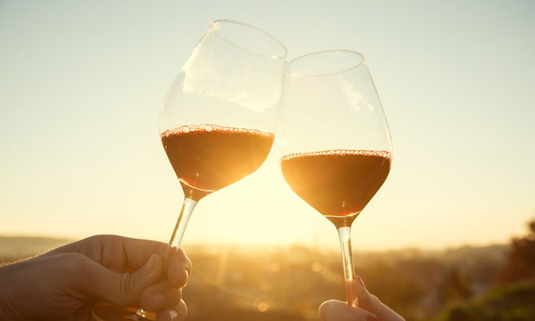 elke dag een glas wijn