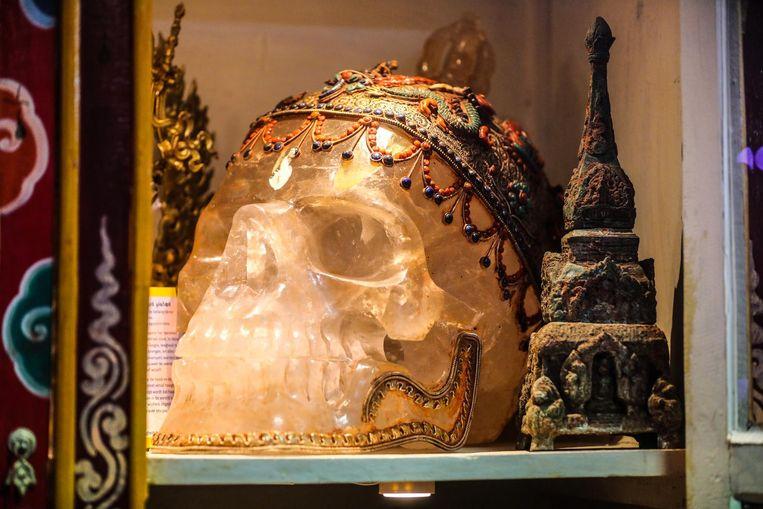 Deze kristallen schedel is één van de topstukken in 'Little Tibet'