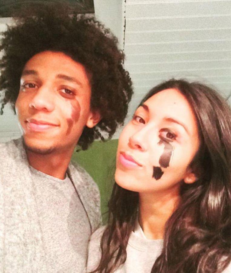 Danira en haar vriend Bouba.