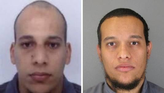 De broers Kouachi, hoofdverdachten van de aanslag op de redactie van Charlie Hebdo.
