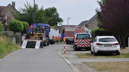 Brandende lekkende gasleiding onder controle gehouden door brandweer