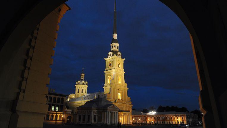De Petrus- en Pauluskathedraal in Sint-Petersburg. Beeld AFP