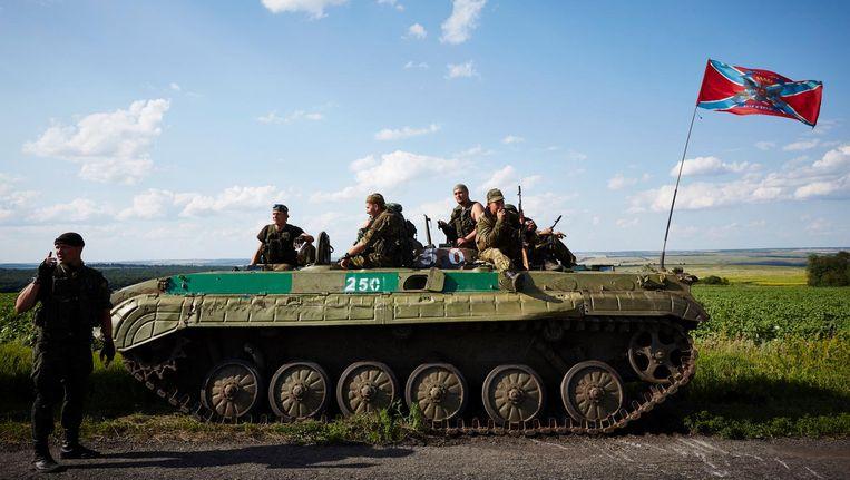 Rebellen in Grabovo, in het oosten van Oekraïne. Beeld anp
