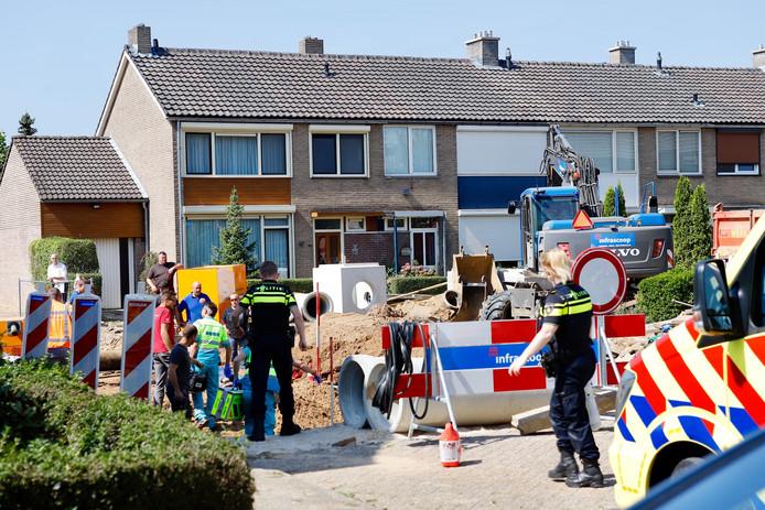 De plek van het ongeval in Cuijk.