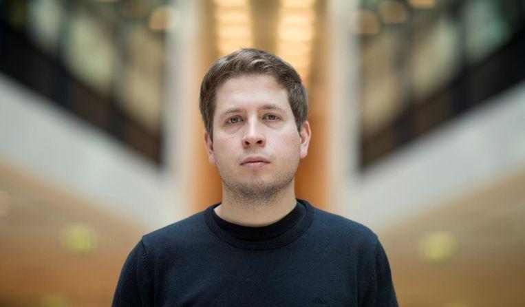 Kevin Kühnert (28) is de leider van de SPD-protesten tegen de Grote Coalitie (No-GroKo). Onvermoeibaar trok de voorman van de SPD-jongeren door het land met de boodschap dat de partij alleen in oppositie haar geloofwaardigheid kan hervinden. Beeld reuters