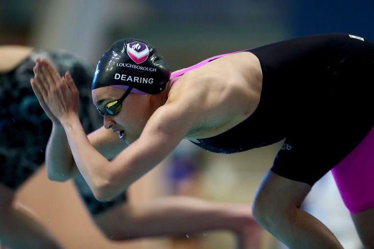 De Britse zwemster Alice Dearing. Beeld Getty
