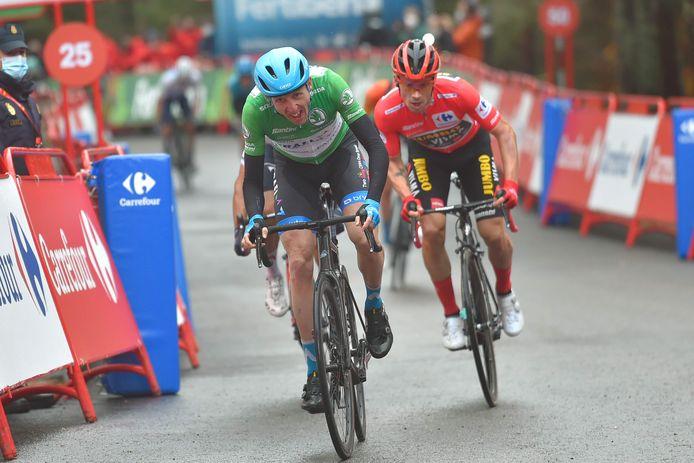 Dan Martin wint de sprint in de tweede etappe van de Vuelta.