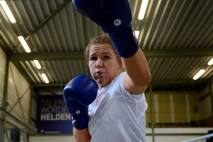 Chelsey Heijnen tijdens een training. De Roosendaalse is zich volop aan het voorbereiden op het EK in Rusland.