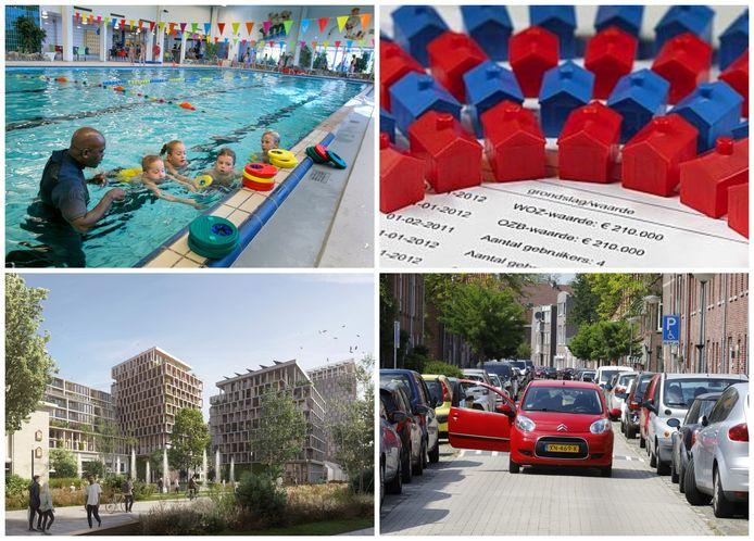 De crisis in het stadsbestuur in Schiedam heeft gevolgen voor de toekomst van zwembad Zuid, de begroting en de gemeentebelastingen, het betaald parkeren en bouwplan Schieveste (met de klok rond).