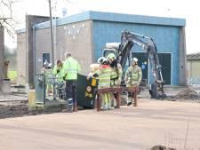 Slopers trekken gasleiding stuk in Nieuwegein