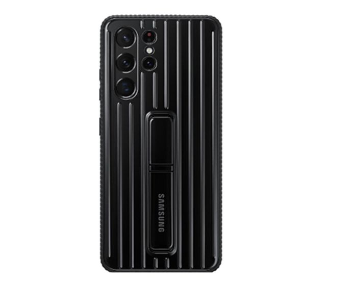 Samsung Galaxy S21 Ultra Protective Standing Back Cover Black