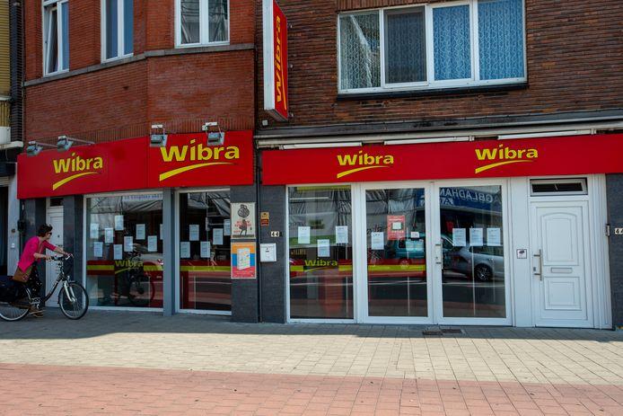 Een gesloten winkel van Wibra in Gent eerder deze maand.