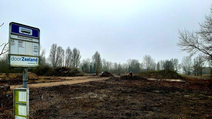 Het Kaasboerterrein bij Biggekerke waar tot de brand van 2015 een partycentrum stond. Nu wel Dormio daar een hotel resort met 466 bedden neerzetten