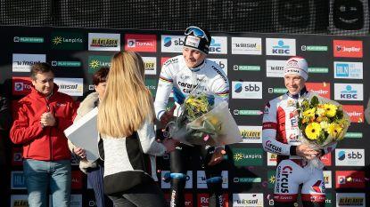 Mathieu van der Poel geeft bloemen terug aan bevallige dochter Frank Vandenbroucke