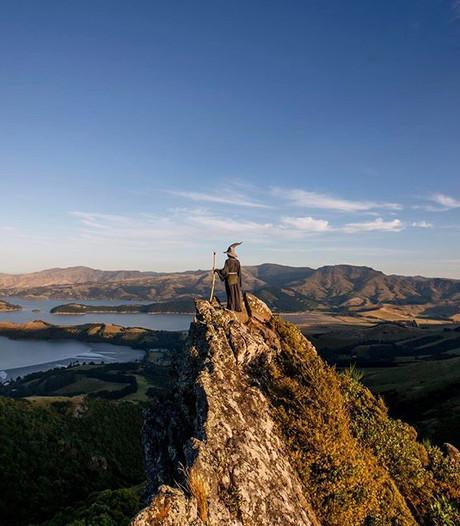 Student reist als tovenaar Gandalf door Nieuw-Zeeland