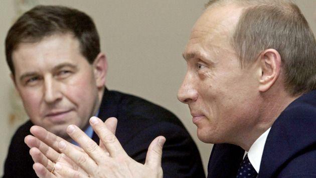 Andrej Illarionov was zes jaar lang hoofd economisch advies voor Poetin. Archiefbeeld van de twee uit 2004.