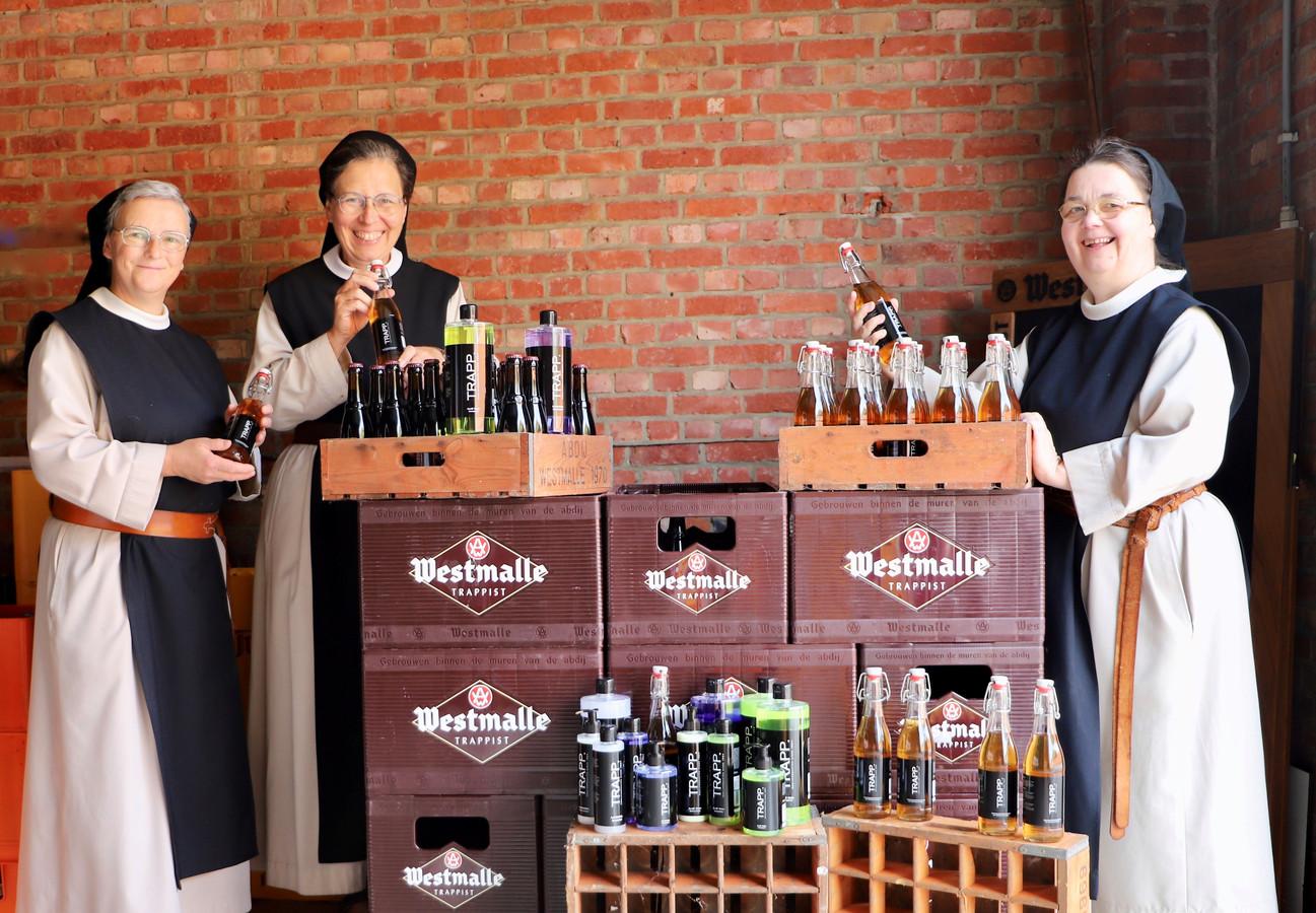 De zusters-trappistinnen lanceren een complete verzorgingslijn met producten waarin Trappist Dubbel van Westmalle is verwerkt