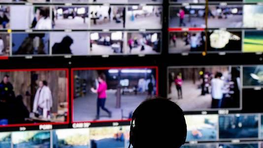 De regie- en contolroom van het programma Utopia, de nieuwe dagelijkse realityshow van SBS6, waarbij deelnemers vanuit niets een leefomgeving moeten opbouwen.