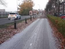 Plastic fietspad in Zwolle spierwit na eerste nachtvorst: verslaggeefster doet gladheidstest