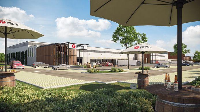 Impressie van de nieuwe locatie van Brouwerij Frontaal.