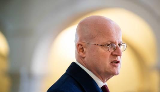 Minister Ferd Grapperhaus van Justitie en Veiligheid (CDA) na afloop van de wekelijkse ministerraad.