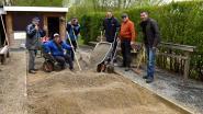 Petanquers herstellen zelf petanquebaan
