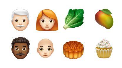 Rosse mensen en cupcakes: dit zijn de nieuwe emoji's van Apple