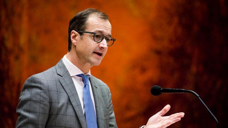 Eric Wiebes tijdens het debat Beeld Freek van den Bergh / de Volkskrant