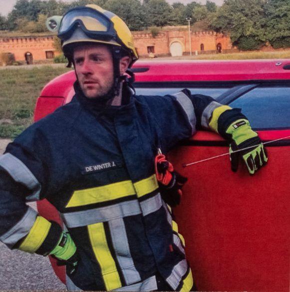 Jens De Winter was net tien jaar in dienst bij de brandweer.