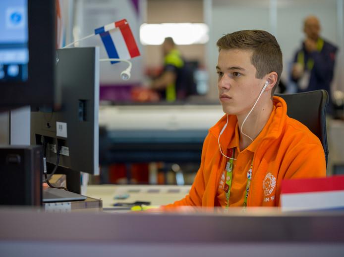 Ike Vermeulen tijdens de Europese vakwedstrijden Euroskills, vorig jaar.