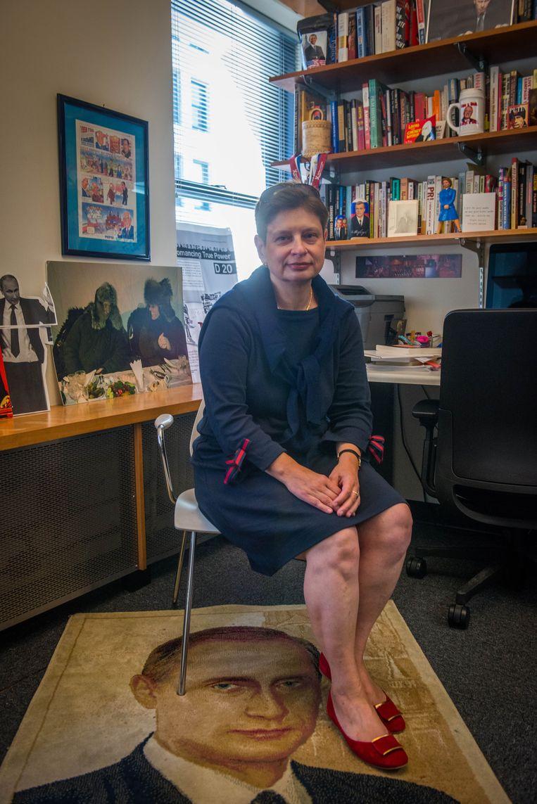 Nina Chroesjtsjov is hoogleraar internationale betrekkingen aan de New School University in New York. Beeld Clement, Rene