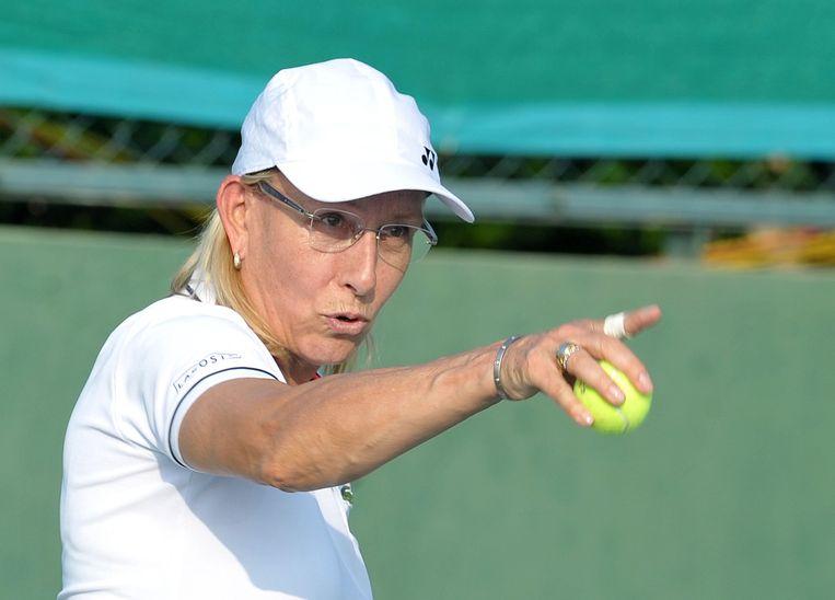 Martina Navratilova is nog altijd een rolmodel voor homoseksuele tennissers.  Beeld AFP
