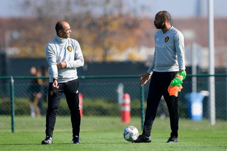 Martínez en Henry, eergisteren op training.