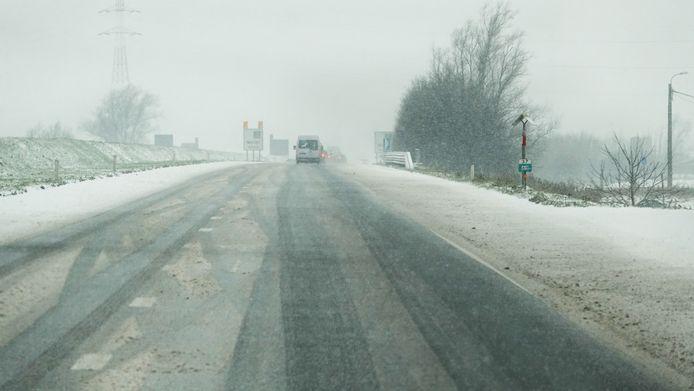Ook op de autosnelweg A19 was het opletten geblazen.