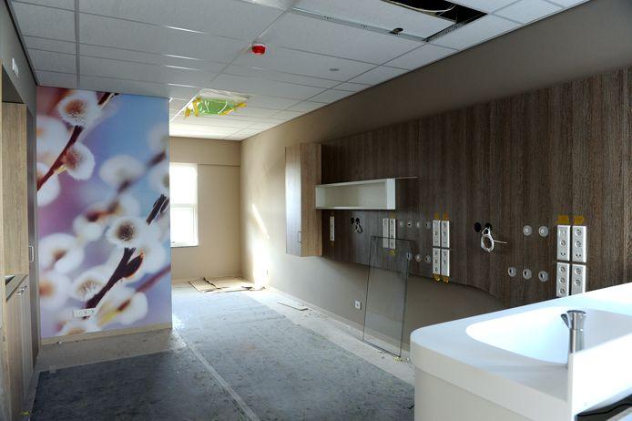 In 2015 was de inrichting van het Moeder- en Kindcentrum in Bergen op Zoom nog in volle gang.