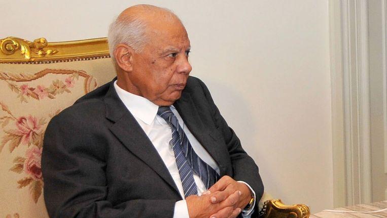 Egypte's Interim-premier Hazem el-Beblawi. Beeld AP