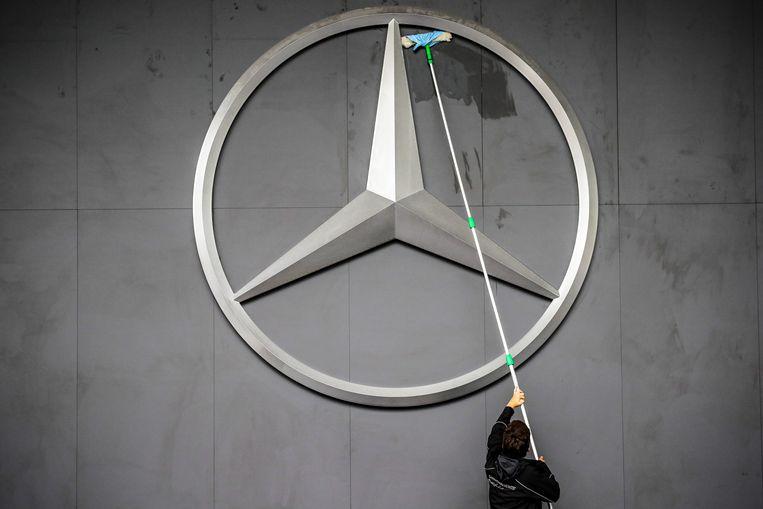 Het logo van Mercedes-Benz. Beeld EPA