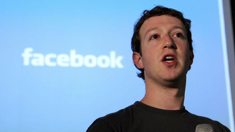 Facebookoprichter Mark Zuckerberg. Beeld REUTERS
