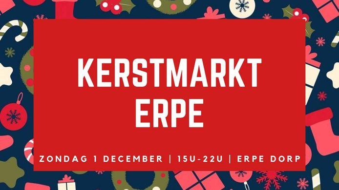 Affiche kerstmarkt Erpe 2019.
