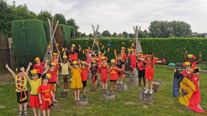"""Denderleeuwse scholen en kinderopvang kleuren rood-geel-zwart: """"Supporteren voor Rode Duivels als huiswerk"""""""