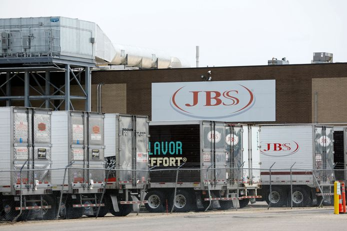 Een fabriek van vleesverwerker JBS in Michigan.