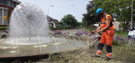 Flinke schade in Nijkerk na Oranjefeest op rotonde: 'Dit heeft toch niets meer met voetbal te maken?'